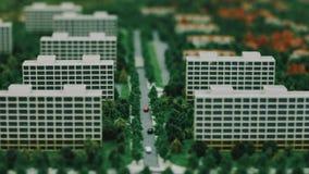 Architektura model mieszkaniowa ćwiartka Konstruować nowego budynku modela zdjęcie wideo
