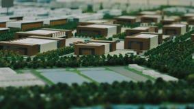 Architektura model przemysłowy okręg z handlowymi budynkami zbiory wideo