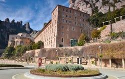 Architektura Montserrat monaster (monaster Montserrat) Zdjęcia Royalty Free