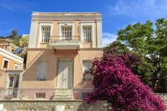 Architektura na Greckiej wyspie Symi Obraz Royalty Free