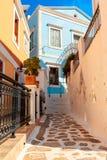 Architektura na Greckiej wyspie Symi Fotografia Stock