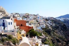 Architektura na Santorini wyspie, Grecja Zdjęcie Royalty Free