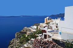 Architektura na Santorini wyspie, Grecja Fotografia Royalty Free