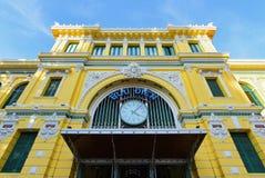 Architektura na zewnątrz Saigon centrali urzędu pocztowego Obrazy Royalty Free