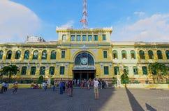 Architektura na zewnątrz Saigon centrali urzędu pocztowego Zdjęcie Royalty Free