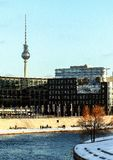 Architektura Niemcy Budynki w Berlin Wycieczka w zimie obrazy stock