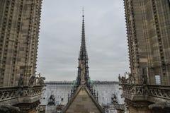 Architektura notre-dame de paris zdjęcia royalty free