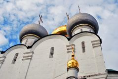 Architektura Novodevichy klasztor w Moskwa Smolensk ikony katedra Zdjęcia Stock