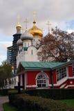 Architektura Novodevichy klasztor w Moskwa Smolensk ikony katedra Obrazy Royalty Free