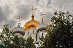Architektura Novodevichy klasztor w Moskwa Smolensk ikony katedra Fotografia Stock