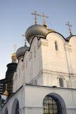Architektura Novodevichy klasztor w Moskwa Smolensk ikony kościół Zdjęcia Stock