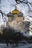 Architektura Novodevichy klasztor w Moskwa Smolensk ikony kościół Fotografia Stock