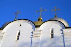 Architektura Novodevichy klasztor w Moskwa Smolensk ikony kościół Obrazy Royalty Free