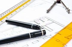 architektura plany Obrazy Royalty Free