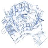 architektura projektu dom Zdjęcia Royalty Free