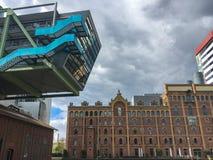 Architektura przy Medienhafen Dusseldorf, Niemcy zdjęcia royalty free