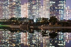 Architektura przy nocą fotografia royalty free