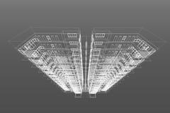 Architektura rysuje nowożytną 3d ilustrację Zdjęcie Royalty Free