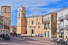 Architektura Santa Severina w prowinci Croton, Włochy obrazy royalty free