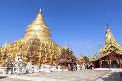 Architektura Shwezigon pagoda w Bagan Zdjęcie Royalty Free
