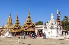 Architektura Shwezigon pagoda w Bagan Obrazy Stock