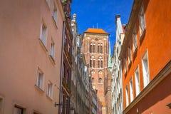 Architektura stary miasteczko w Gdańskim Zdjęcie Royalty Free