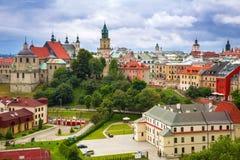 Architektura stary miasteczko w Lublin zdjęcie stock