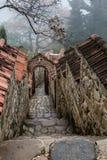 Architektura stary miasto, piękny widok wierza, kaplica w świątyni, widoki Gruzja Obrazy Royalty Free