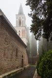 Architektura stary miasto, piękny widok wierza, kaplica w świątyni, widoki Gruzja Obraz Stock