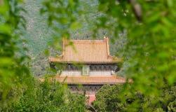 Architektura szczegół chiński tradycyjny budynek Zdjęcia Royalty Free