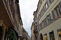 Architektura szczegółu uliczny widok Strasburski Francja obraz royalty free