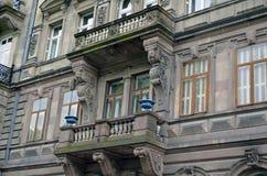 Architektura szczegółu uliczny widok Strasburski Francja zdjęcia stock
