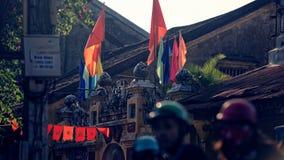 Architektura tradycyjna Wietnamska wioska zdjęcia royalty free