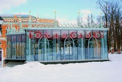 Architektura Tsaritsyno park w Moskwa Zdjęcia Royalty Free