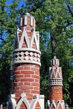 Architektura Tsaritsyno park w Moskwa Obrazy Stock