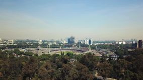 Architektura UNAM, Estadio Olimpico, widok z lotu ptaka podczas Ameryka dopasowania zdjęcie wideo