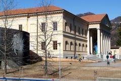 Architektura uniwersytet przy Mendrisio na włoskiej części Swit Zdjęcie Stock
