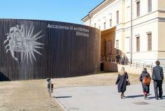 Architektura uniwersytet przy Mendrisio na włoskiej części Swit Obraz Royalty Free