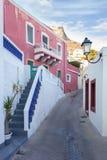 Architektura w Agia Marina wiosce, Leros Zdjęcie Stock