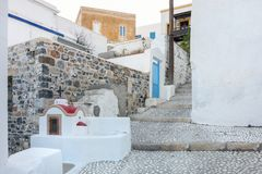 Architektura w Agia Marina wiosce, Leros Fotografia Royalty Free