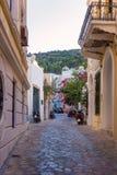 Architektura w Agia Marina wiosce, Leros Zdjęcia Stock