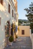 Architektura w Agia Marina wiosce, Leros Zdjęcia Royalty Free