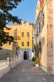 Architektura w Agia Marina wiosce, Leros Obraz Stock