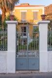 Architektura w Agia Marina wiosce, Leros Obrazy Royalty Free