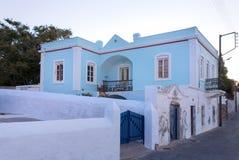 Architektura w Agia Marina wiosce, Leros wyspa, Grecja Obraz Royalty Free