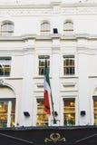 Architektura w Dublin ` s centrum miasta w Grafton ulicy featurin Obraz Stock