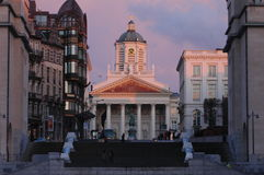 Architektura w historycznej części Bruksela, Belgia Zdjęcia Stock
