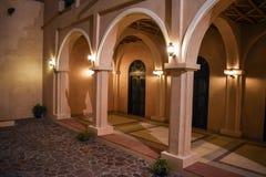 Architektura w Katara wioski Kulturalnej ulicie obrazy royalty free