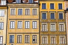 Architektura w Warszawskim Starym mieście zdjęcia royalty free