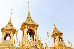 Architektura wokoło Królewskiego Crematorium w Thailand przy Listopadem 04, 2017 Fotografia Royalty Free